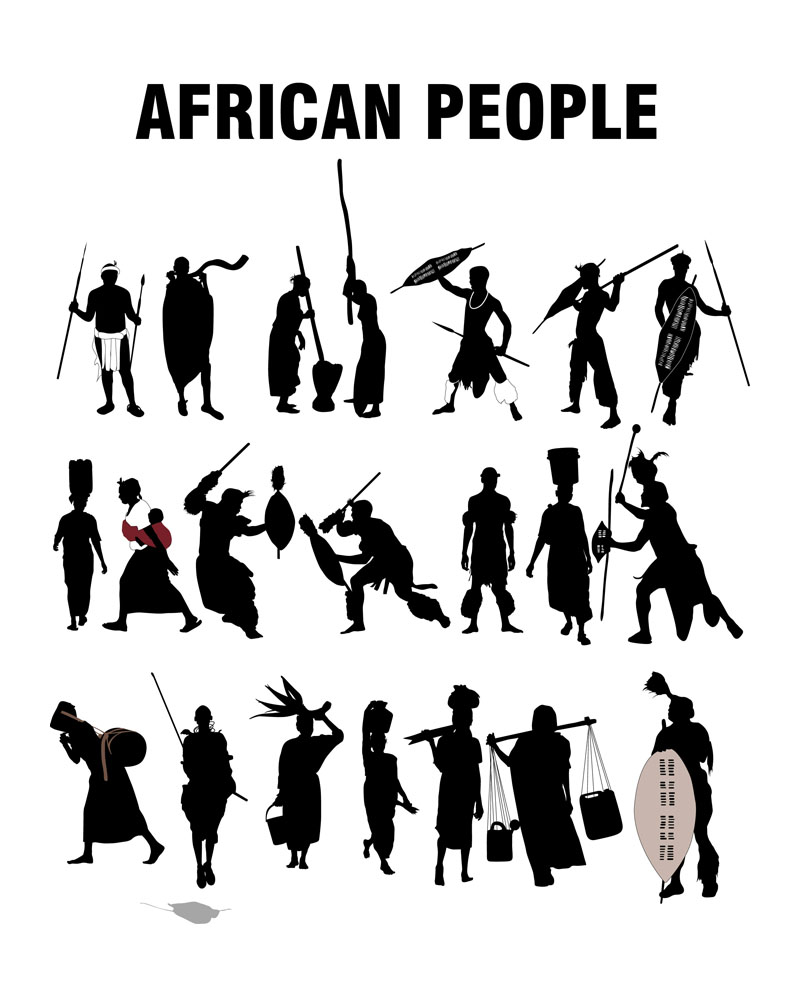 African People Silhpouettes